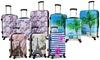 World Traveler Patterned Hardside Spinner Luggage Set (3-Piece)