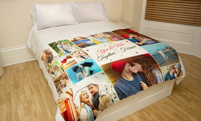 "One or Two 30""x40"" or 50""x60"" Custom Faux-Mink Photo Blankets from Printerpix (Up to 89% Off)"