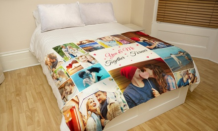 One or Two Custom Faux-Mink Photo Blankets from Printerpix (Up to 96% Off)