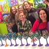 Up to 41% Off Wine Glass Painting Class at A Painting Fiesta