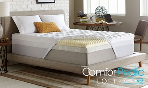 "Beautyrest ComforPedic Loft Sculpted 5.5"" Memory Foam and Fiber Topper"
