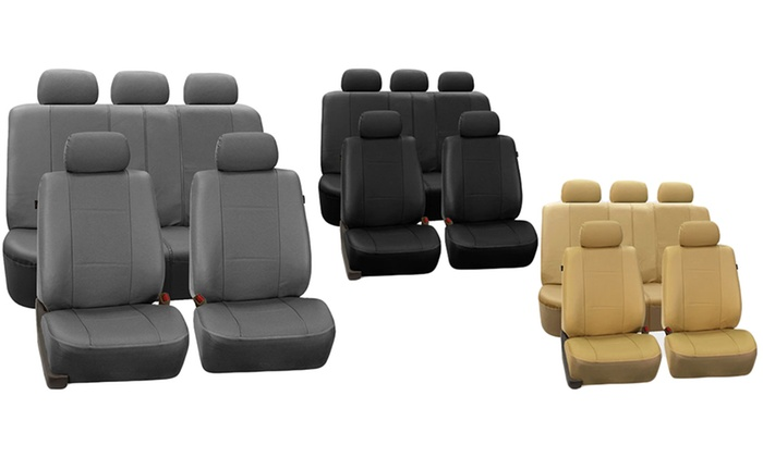 Universal Fit Leatherette Car Seat Cover Set 9 Piece