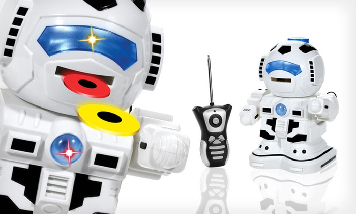 GigaBot Disc-Shooting RC Robot: $19 for a GigaBot Disc-Shooting Remote-Controlled Robot ($68.79 List Price). Free Shipping and Free Returns.