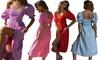 Fashion Summer Short Sleeve Long Dress