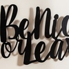3D Typography Metal Wall Decors