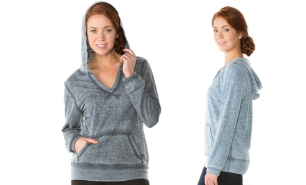 Women's Burnwash V-Neck Hoodie by Sociology