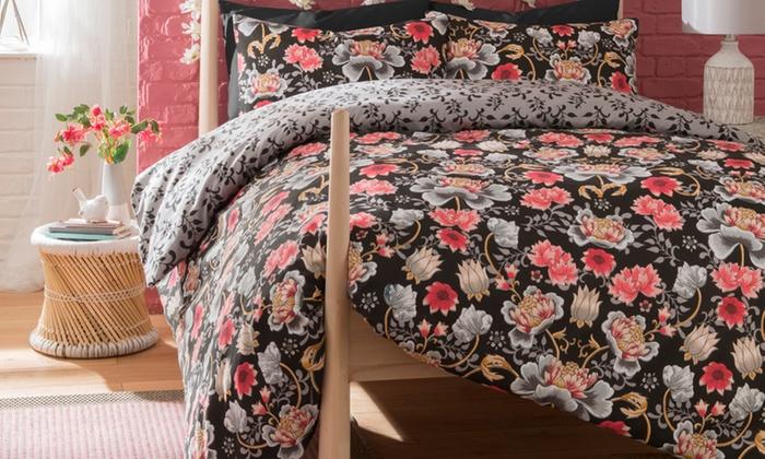 Pieridae Oriental Floral Reversible Duvet Set from £10