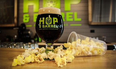 $16 for Beer Flight Experience: Standard Flight and Two Pints at Hop and Barrel Brewing ($21 Value)