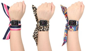 Posh Tech Silk Scarf Bands for Apple Watch Series 1, 2, 3, 4