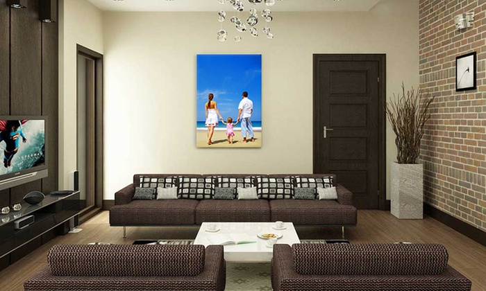 PureCanvas: One, Two, or Four Custom Photo Canvases with Frames from PureCanvas (Up to 76% Off)