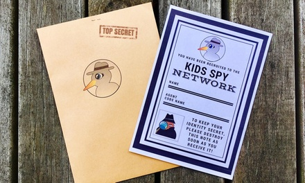 Spy Mission for Up to 3 Kids: One $7 or Boredom Buster Pack: Three Missions $26 from Kids Spy Network Up to $60