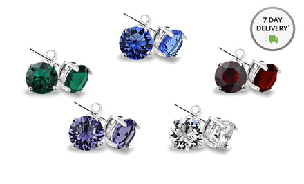 Set of 5 Swarovski Elements Stud Earrings. Free Returns.