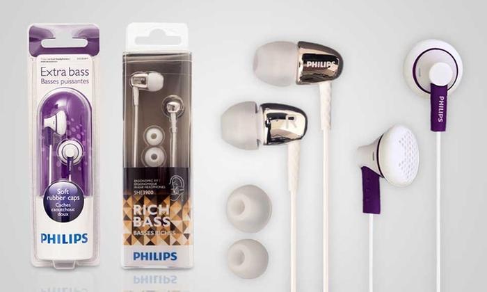 philips in ear kopfh rer groupon goods. Black Bedroom Furniture Sets. Home Design Ideas