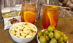 Cafe L Aperitivo: House Cocktail and Taralli or Hot Beverage with Biscotti for Up to Four from R59 with L'Aperitivo Caffe'(Up to 59% Off)