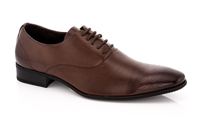 Adolfo Lace Up Faux Leather Mens Shoes