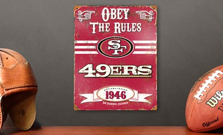 NFL Embossed Metal Signs