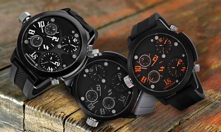 Joshua & Sons Herren-Armbanduhr in der Farbe nach Wahl