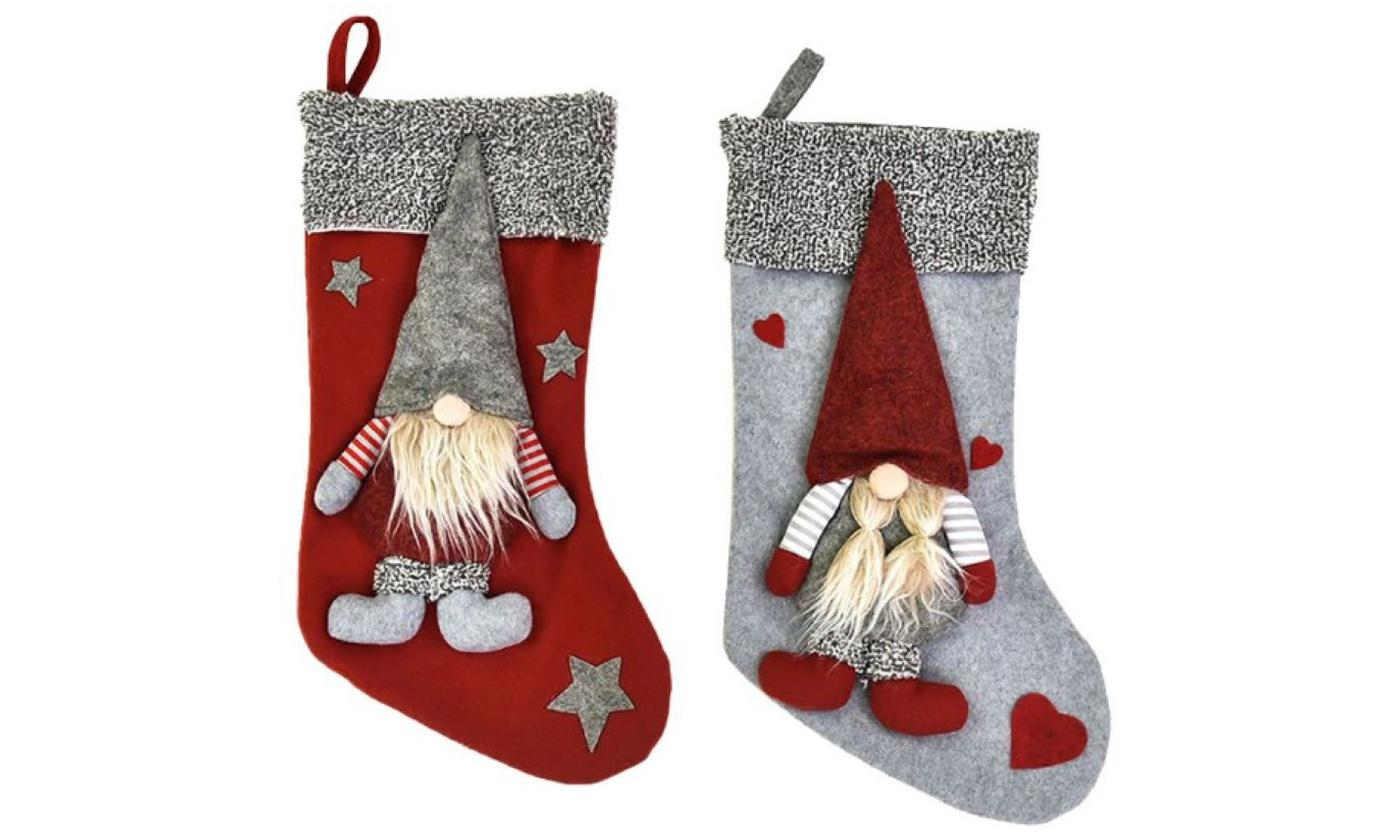 One or Two Elf Christmas Stockings