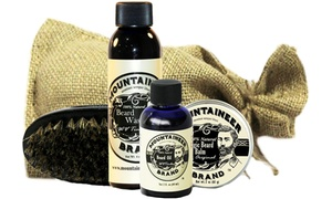 Mountaineer Complete Beard Care Kits in Burlap Bag