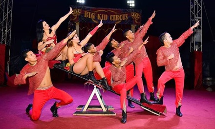 One Big Kid Circus Grandstand Ticket, 30 March 14 April, Three Locations