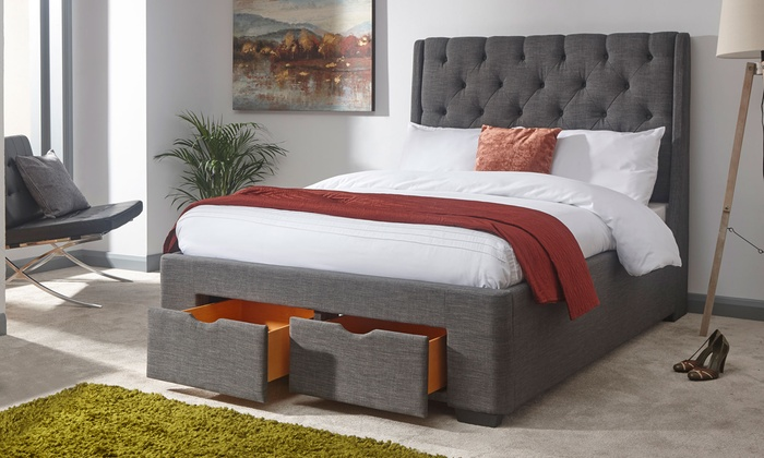 Boutique Buttoned Drawer Storage Bed with Optional Luxury Bonnell Mattress from £300