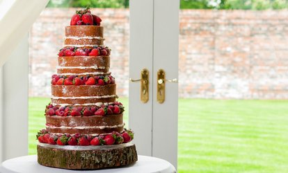 image for Three-Tier Naked Wedding Cake from Mom'n'co. Cakes (57% Off)