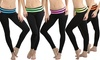 Women's Fold-Over Skinny-Fit Active Pants (5-Pack): Women's Fold-Over Skinny-Fit Active Pants (5-Pack) (Size M/L)