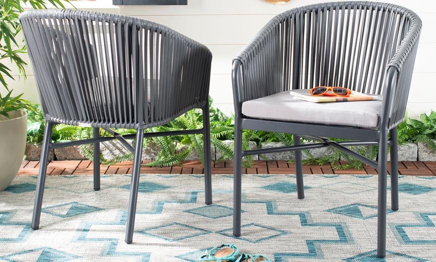 Safavieh Outdoor Rope Chairs 2 Pack, Safavieh Patio Furniture