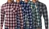 Men's Long Sleeve Checked Shirt