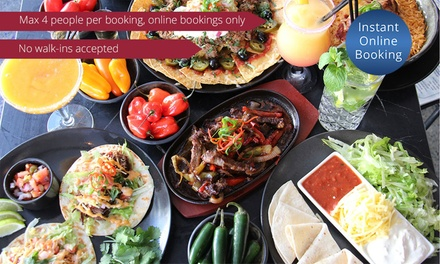 TwoCourse Mexican Dinner for Two $35 or Four People $69 at The Aztec Restaurant and Tequila Bar, Broadbeach