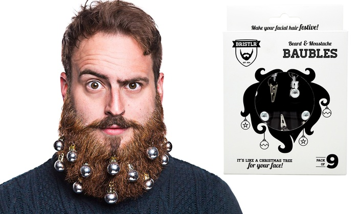 One or Two Bristlr Beard and Moustache Baubles Sets From £3.98