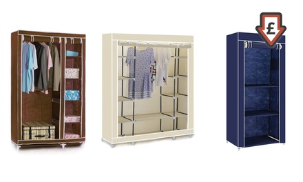 Canvas Wardrobe: Single, Double or Triple in Choice of Colour