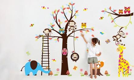 Pegatinas decorativas de pared con diseños de animales para niños desde 5,99 € (hasta 78% de descuento)