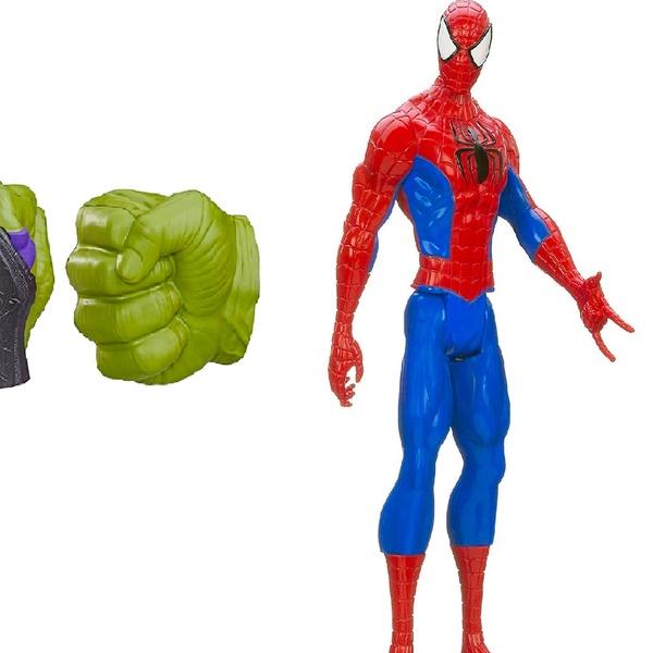 Giocattoli Marvel Spiderman action figure e maschera e pugni elettronici di Hulk