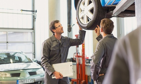 Wheel Alignment, Brake-Pad Replacement , or Wheel Balancing and Tire Rotation at Midas (Up to 44% Off)
