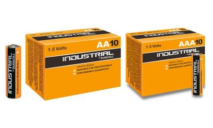 10, 20 oder 20 Duracell Industrial AA  oder AAA Batterien