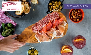 La Tasca: £30 or £50 to Spend on Tapas and Drinks at La Tasca, 11 Locations (50% Off)