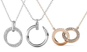 Collier pendentif cercle cristauxSwarovski®