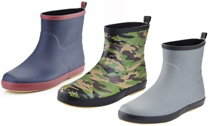 Men's Pull-On Rubber Rain Boots