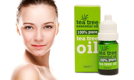 Two or Four Tea Tree Pure Essential Oil 10ml Bottles