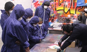 Graffik Gallery: Gift Voucher for a Two-Hour Graffiti Class Plus Canvas for One or Two at Graffik Gallery