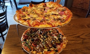 Newaygo Brewing Company: Two Pizzas at Newaygo Brewing Company (Up to 50% Off)