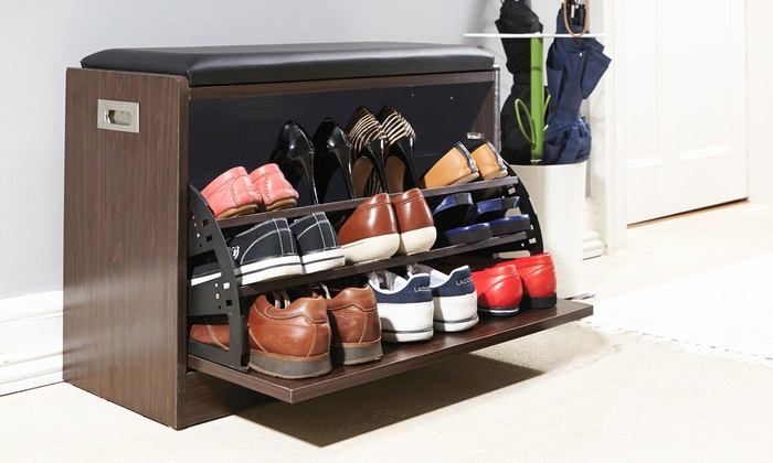 Tremendous Deluxe Shoe Ottoman Bench Groupon Pdpeps Interior Chair Design Pdpepsorg