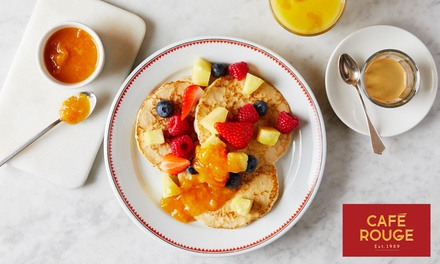 Hot Breakfast with Hot Drink and Optional Fruit Juice for Two at Caf© Rouge, Nationwide (Up to 44% Off) (Birmingham)
