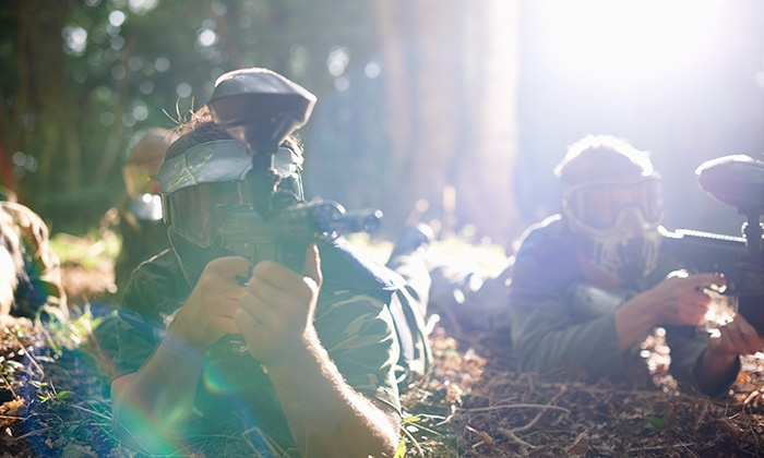 Unreal Paintball - Madeley: One-Day Paintballing with 200 Paintballs Each for Five, Ten, 15 or 20 at Unreal Paintball (92% Off)