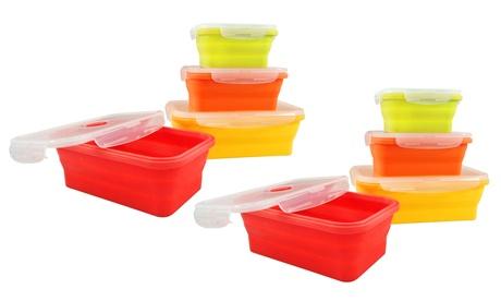 Hasta 8 recipientes de alimentos para horno plegables de silicona Jocca
