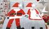 Dekbedovertrekset met kerstthema