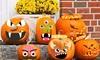 12-Piece Halloween Pumpkin Face Sticker Decorations Set
