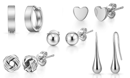Stud, Hoop or Teardrop Earrings