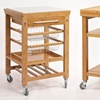 Solid Bamboo Kitchen Cart